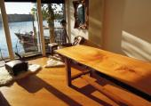 Cedar of Lebanon table with a high shine. Picture courtesy of www.paleamber.net