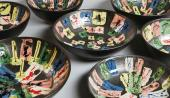 Graffiti bowls by Dallas ceramicist Paul Schneider