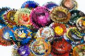 Flowers made from tin cans by US artist Harriete Estel Berman