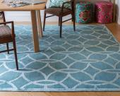 Jennifer Manners rugs are hand-made in India and Nepal