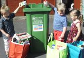 Kids like to recycle - just get them in the habit early