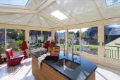 The roof panels are made from 100 per cent recycled aluminium and are fully recyclable