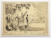 "Pen drawing from the 1920s ""Beauty in Hyde Park'"