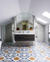 Italy's Refin ceramic tile company offers bold Majolica tiles
