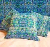 Ophelia cushions in velvet or linen