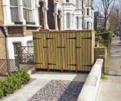 Carpenter Tim Mansfield built this enclosure for residents in north London