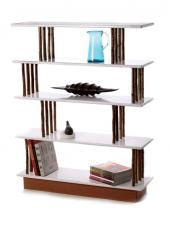 Mackstick Shelves use coppiced hazel and cork covered birch ply