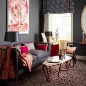 Ashley Hicks study use wool carpet and fabrics