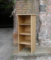 Bookcase, £70. Decorate it to personalise it. www.thecardboardman.co.uk