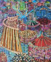 Fairground collage by Rosalind Freeborn