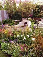 Gould's garden is made with lots of recycled and waste materials