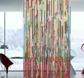Strands of anodised aluminium form artistic curtains
