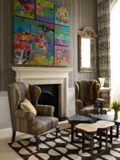 Bedroom suite by Kit Kemp of Firmdale Hotels