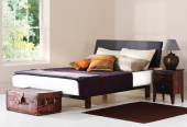Cayman bed with fabric upholstered headboard