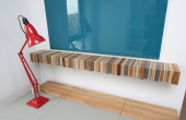Fitted furniture can be made from off-cuts, as Titeux demonstrates