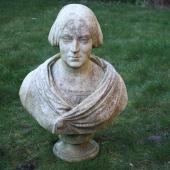 Italian marble bust of a woman, circa 1858, marked H Rinaldi  £4-£6,000