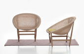 Basket chair - a reissue by Kettal of its 1950s classic by Nanna Ditzel