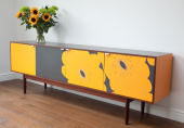 Upcycled vintage sideboard by Stephen Sheffield at Resurface Design