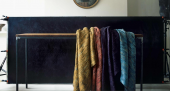 Silk and wool throws by felt expert Claudy Jongstra for Willer