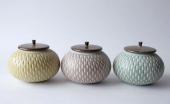 Incised lidded jars, £45 at Jardins Florian