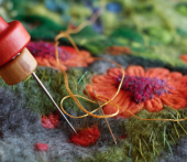Learn to felt and stitch with artist Helen Riddle