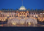 Pollution Pods pictured at Somerset House in London - they're now going to New York