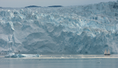 Melting ice caps pose huge danger to people living on low lying land