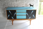 Parrot upcycled sideboard Lucy Turner