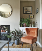 accent chair in sitting room