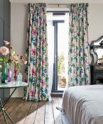 Fiori Linen summer berry curtains