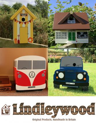 Lindleywood handmade bird boxes are novel and fun