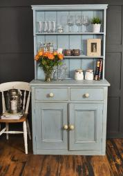 Victorian kitchen dresser upcycled in shabby chic style