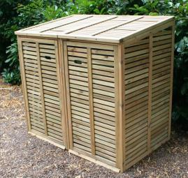 Keep bins out of sight with this wooden bin hide from British Bins