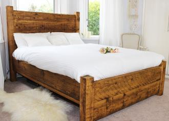 A fabulous reclaimed wood bed from Modish Living