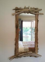 Driftwood mirror handmade by Wayne Willetts at Surf Mirrors