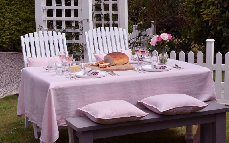 Chalk Pink Linen tablecloth