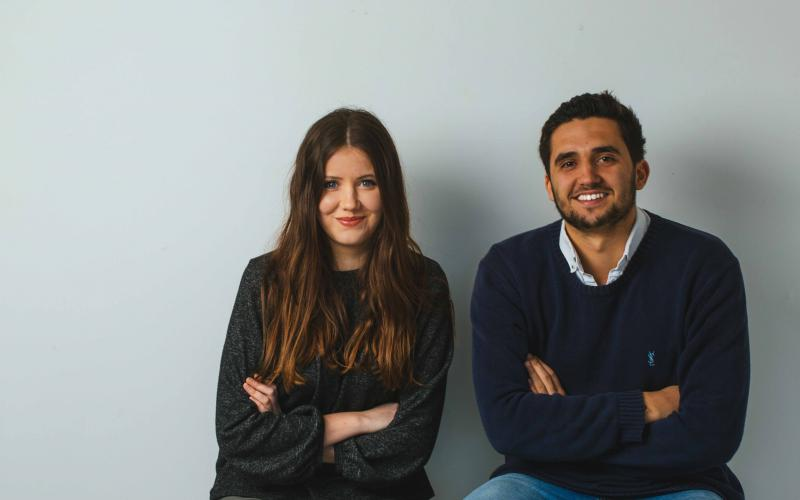 Wearth co founders Imogen Minoli and Edward Davies
