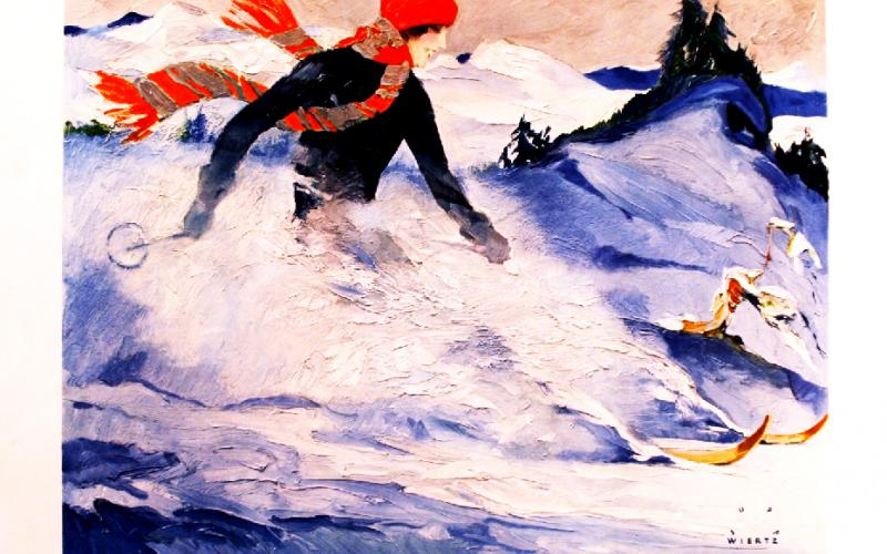 Original 1930s' ski poster by Jupp Wiertz from antikbar