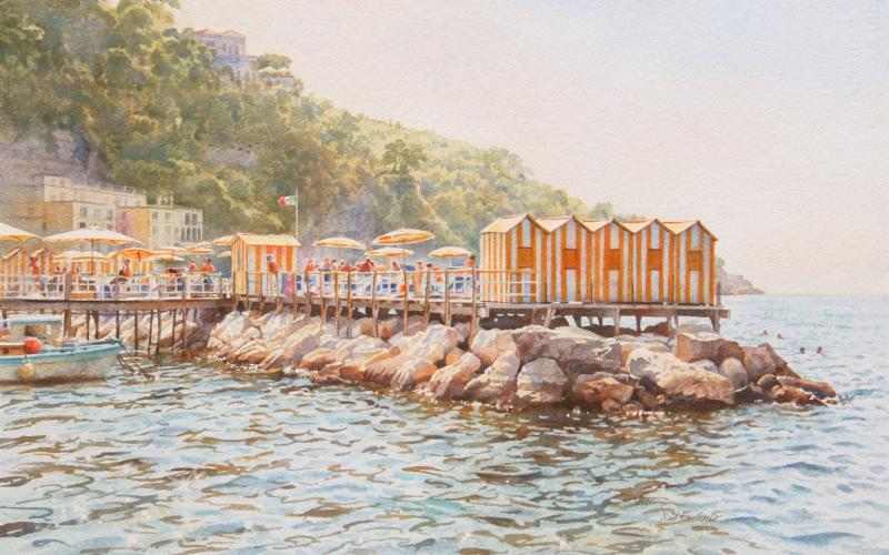 Artist Neil Faulkner's Bathing Huts Sorrento