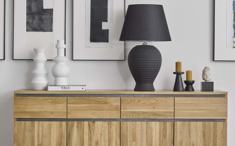 Oak Furnitureland's oak credenza from Boston range