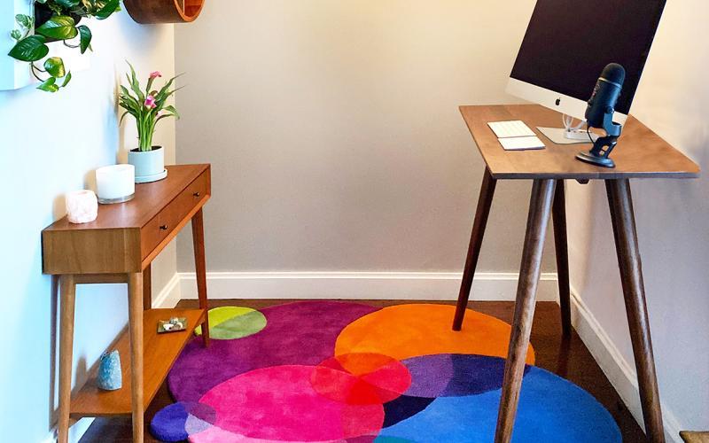 Sonya Winner rug small home office