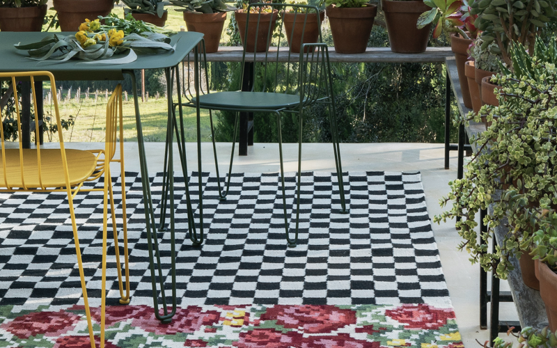 Recycled plastic rug from nanimarquina