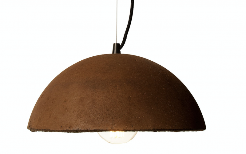 Don't throw your coffee grinds down the drain...make a lampshade out of them