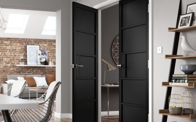 Black panel internal doors from JB Kind
