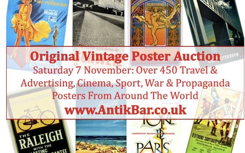 AntikBar original vintage poster auction