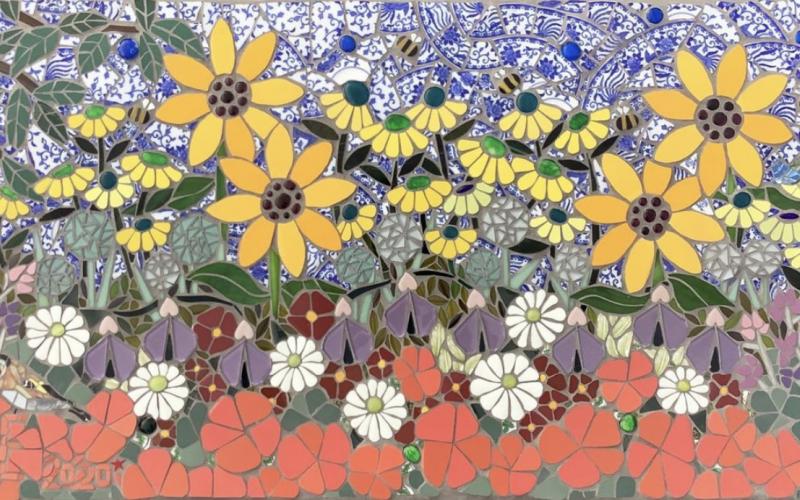 Use lockdown to start mosaic making..Katy Galbraith
