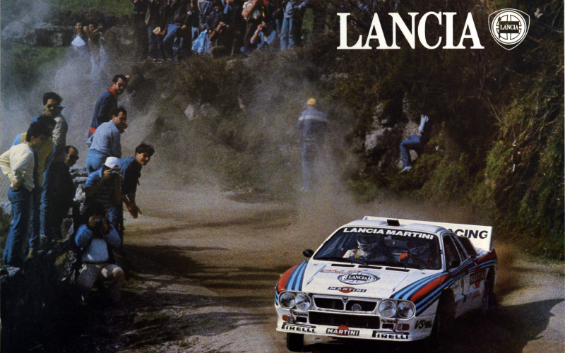 Lancia Martini rally poster from 1970s