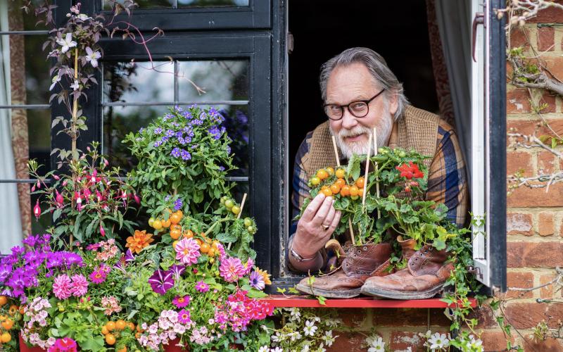 Comedian Jim Moir is a keen gardener