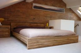 Qube bed from Eat Sleep Live is made from reclaimed wood and the company has organic mattresses