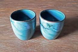 green cups - earthenware